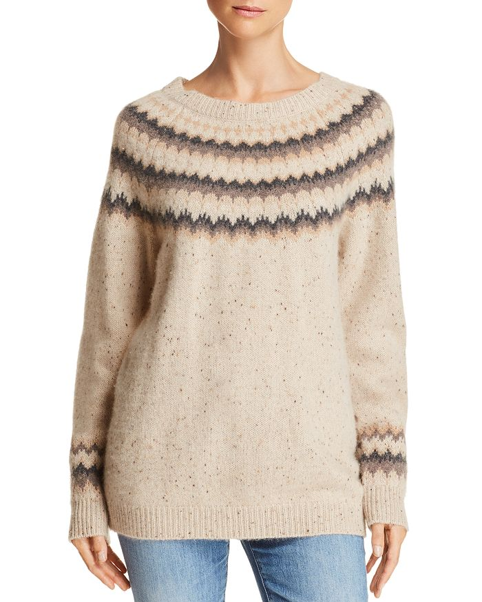 C by Bloomingdale's - Fair Isle Donegal Cashmere Sweater - 100% Exclusive