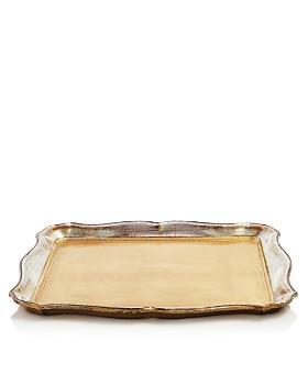 VIETRI - Florentine Gold-Tone & Platinum Wooden Accessories Collection