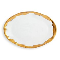VIETRI Gold Brushstroke Oval Platter - 100% Exclusive - Bloomingdale's_0