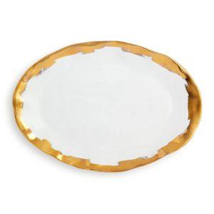 Vietri Gold Brushstroke Oval Platter - 100% Exclusive