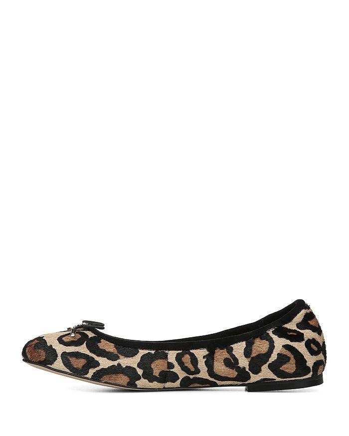 2b885e9d7c8720 Sam Edelman - Women s Felicia Round Toe Leopard-Print Calf Hair Ballet Flats