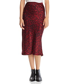 Anine Bing - Bar Leopard Silk Skirt