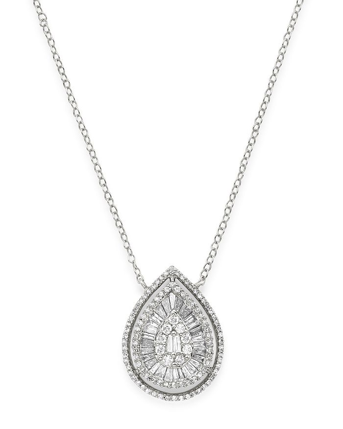 Bloomingdale's Diamond Teardrop Pendant Necklace In 14k White Gold, 0.75 Ct. T.w. - 100% Exclusive