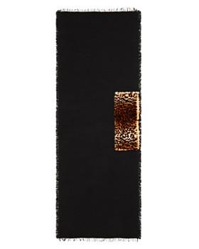 Gaynor - Sara Leopard Faux Fur Detail Wrap