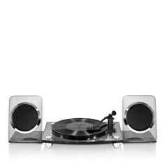 Innovative Technology - Victrola Acrylic Bluetooth 40-Watt Record Player w/ 2-Speed Turntable & Rechargeable Speakers