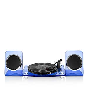 Innovative Technology Victrola Acrylic Bluetooth 40-Watt Record Player w/ 2-Speed Turntable & Rechargeable Speakers