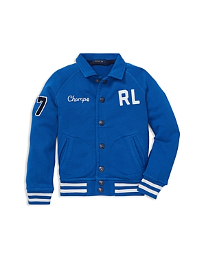 Ralph Lauren Boys Terry Baseball Jacket  Little Kid