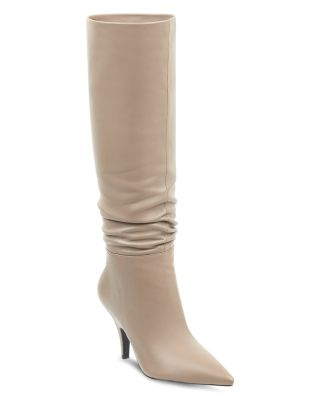 Women's Calla Leather Pointed Toe Heel Heel Boots by Kendall + Kylie