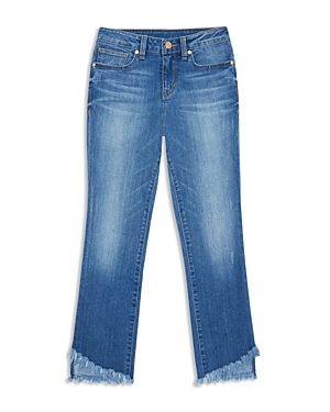 Habitual Girls' Skye Flared Raw-Hem Jeans - Big Kid