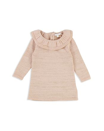 8c5992f395bc Chloé Girls' Ruffle Collar Metallic Thread Knit Dress - Baby ...