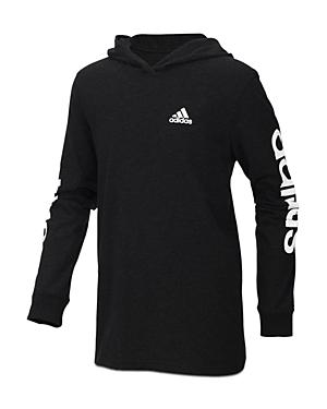 Adidas Boys Branded Sleeve Hoodie  Little Kid Big Kid