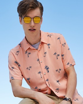 Barney Cools - Palm Tree Regular Fit Button-Down Shirt - 100% Exclusive