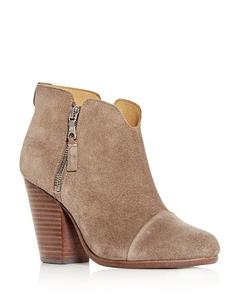 cb9f58da74 rag & bone Women's Margot Suede High Block -Heel Booties ...