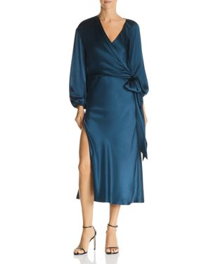 Michelle Mason Silk Faux-Wrap Dress