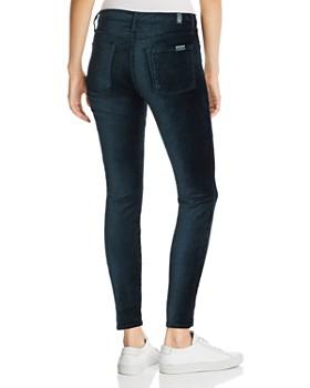 7 For All Mankind - Ankle Skinny Velvet Jeans in Blackened Emerald