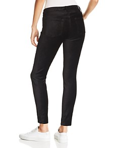 7 For All Mankind - Ankle Skinny Velvet Jeans in Black