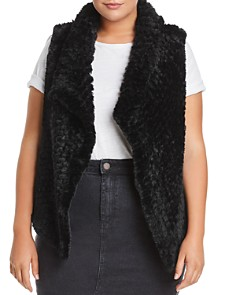 Bagatelle Plus - Draped Faux-Fur Vest