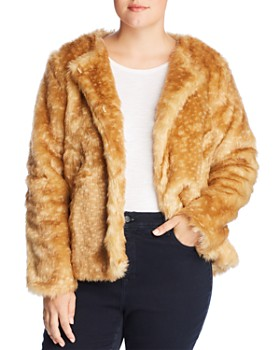 GLAMOROUS CURVY - Spotted Faux-Fur Coat