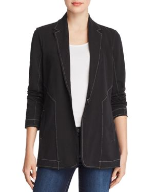 NIC + ZOE The Perfect Seamed Knit Jacket in Black Onyx
