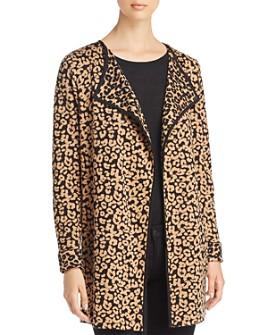 Avec - Leopard Jacquard Open Cardigan