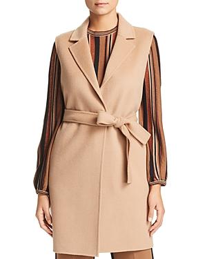 Marella Odette Belted Double-Face Wool Vest