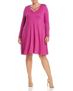 GLAMOROUS CURVY - Long Sleeve Crisscross Dress