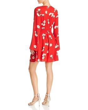 En Créme - Floral Print A-Line Mini Dress