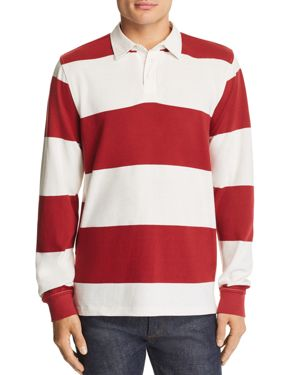 PACIFIC & PARK Striped Rugby Shirt - 100% Exclusive in White/Burgundy