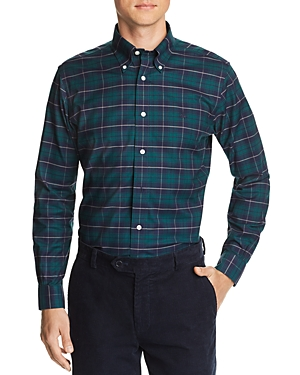 Brooks Brothers Plaid Slim Fit Button-Down Oxford Shirt