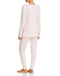 Jane & Bleecker New York - Shopping & Stripes Sweater-Knit Long PJ Set - 100% Exclusive