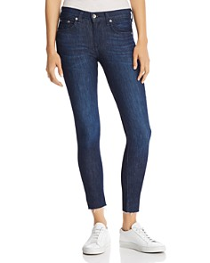 rag & bone/JEAN - Raw-Edge Ankle Skinny Jeans in Tonal River