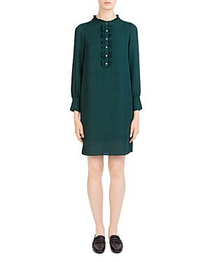 Gerard Darel Amanda Ruffle-Trim Dress