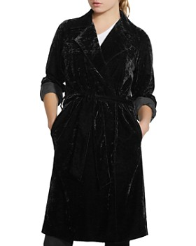 Bailey 44 -  Nikita Crushed Velvet Trench Coat
