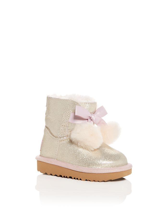UGG® - Girls' Gita Metallic Shearling Pom-Pom Boots - Walker, Toddler