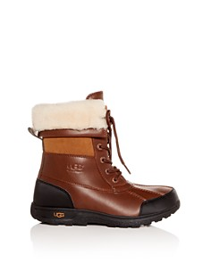 UGG® - Girls' Butte II Waterproof Leather Cold-Weather Boots - Little Kid, Big Kid