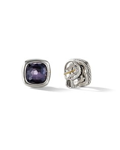 David Yurman - Albion Stud Earrings in Sterling Silver with Black Orchid