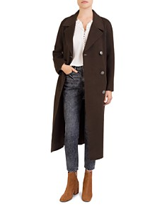 The Kooples - Double-Breasted Long Wool Coat