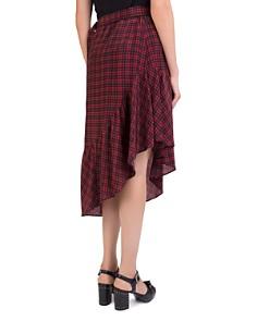 The Kooples - Silk Plaid Asymmetric Skirt