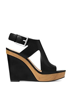 MICHAEL Michael Kors - Women's Josephine Leather Platform Wedge Sandals