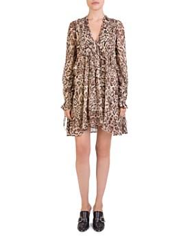 The Kooples - Leopard-Print Babydoll Dress