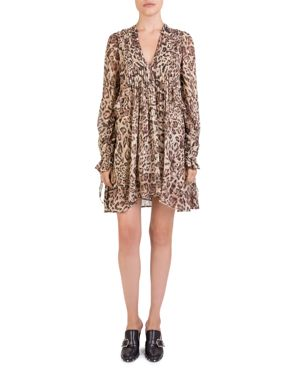 The Kooples Leopard-Print Babydoll Dress