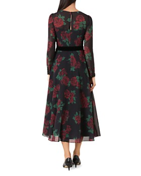 HOBBS LONDON - Lolita Rose Print Midi Dress
