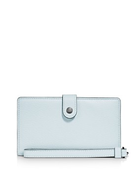 COACH - Phone Wristlet in Polished Pebble Leather