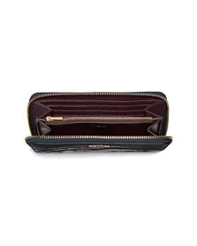 COACH - Embossed Leather Accordion Zip Wallet