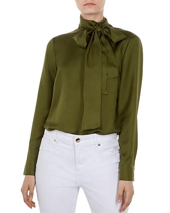 b7bcc68b2d2648 Ted Baker - Marther Tie-Neck Silk Top