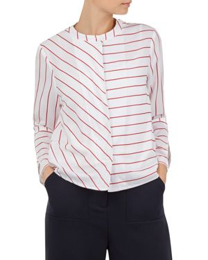 Colour By Numbers Immeny Striped Shirt, Ivory