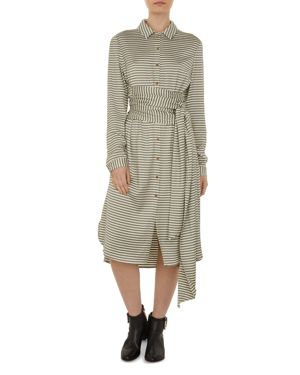 Colour By Numbers Sandre Striped Shirt Dress, Neutrals