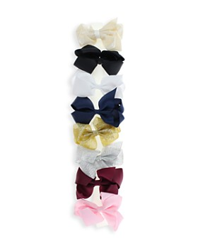 Capelli - Girls' Bow Hair Clips, Set of 8