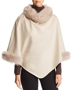 Max Mara - Fox Fur-Trim Cashmere Poncho
