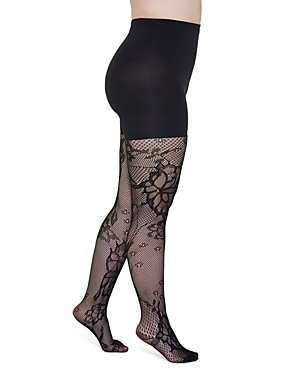 Spanx FLORAL FISHNET SHAPING TIGHTS